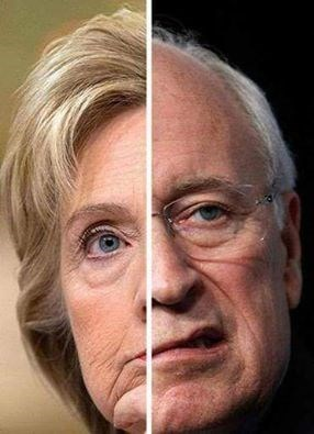 Dick Cheney Hillary Clinton Democrat republican - 8801780224