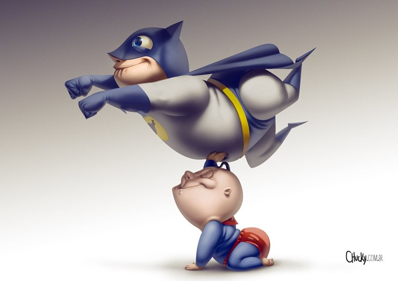 Babies justice league cartoons batman funny superman - 8801958912