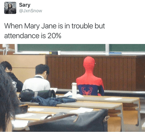 twitter school Spider-Man college - 8802089472