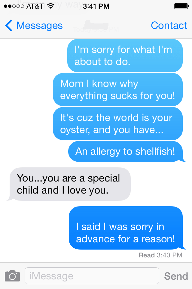 allergies,text,parenting,mom