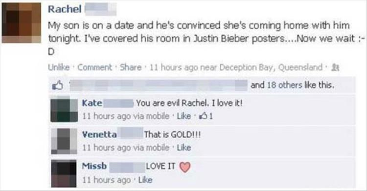 failbook parenting facebook dating justin bieber - 8802128896