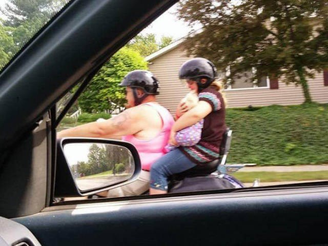 Baby FAIL Parenting Motorcycle