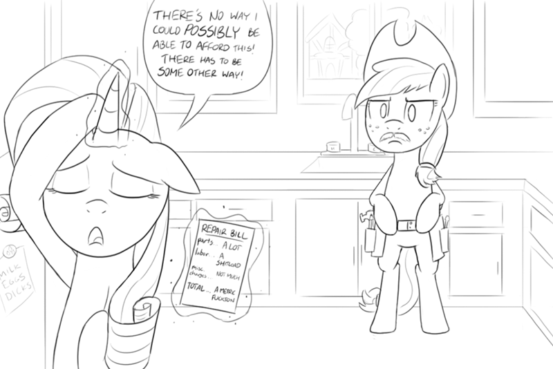 applejack,applejack-s-day-off,innuendo,rarity