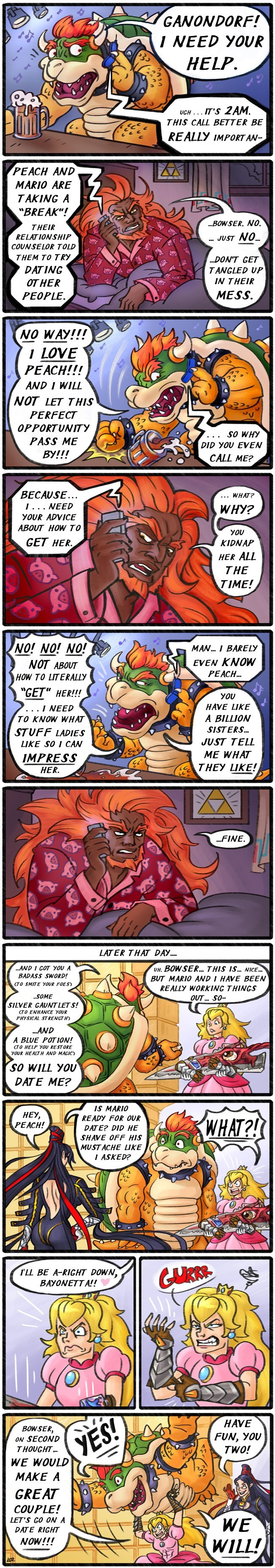 princess peach,bowser,funny,nintendo,web comics
