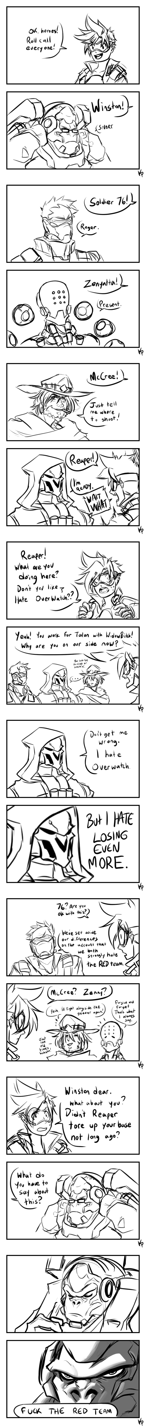 overwatch blizzard video games funny web comics - 8802460416