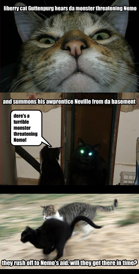 terrible NEMO threatening caption Cats monster - 8802659072