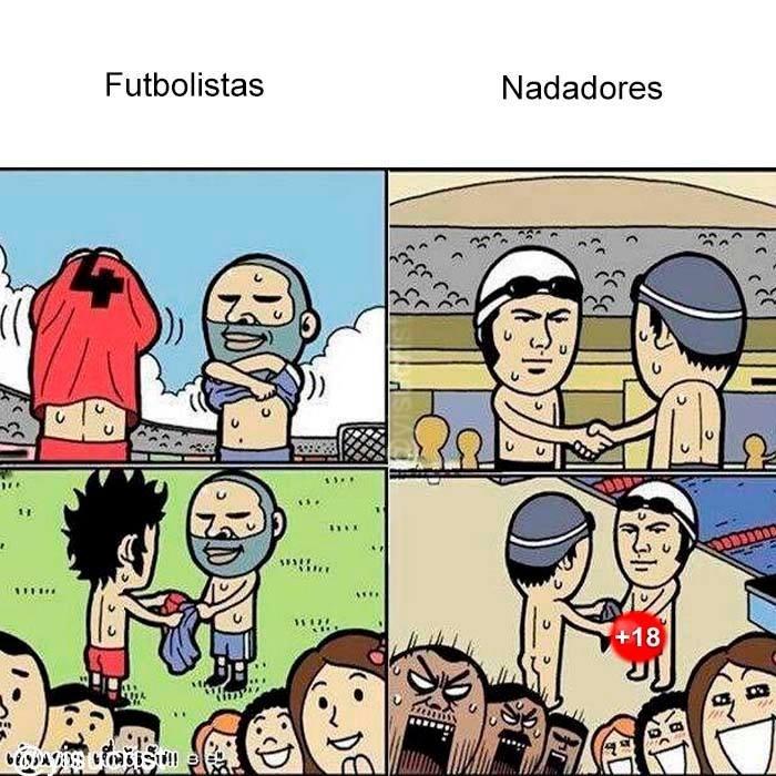 futbolista nadadores