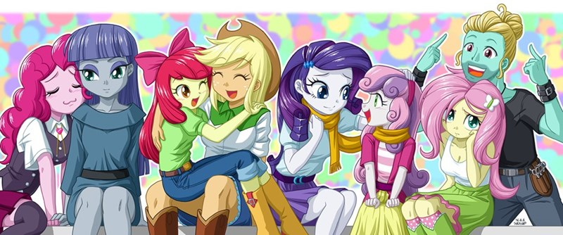 applejack,Sweetie Belle,apple bloom,pinkie pie,zephyr breeze,rarity,maud pie,fluttershy