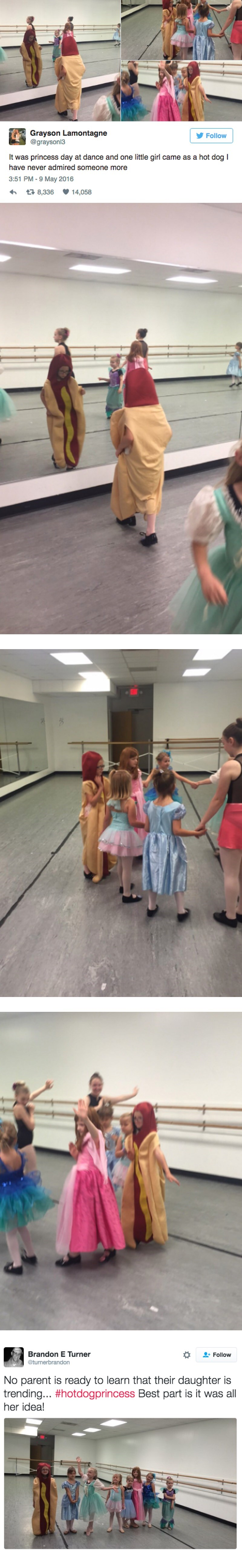 princess,hot dog,twitter,parenting,dance
