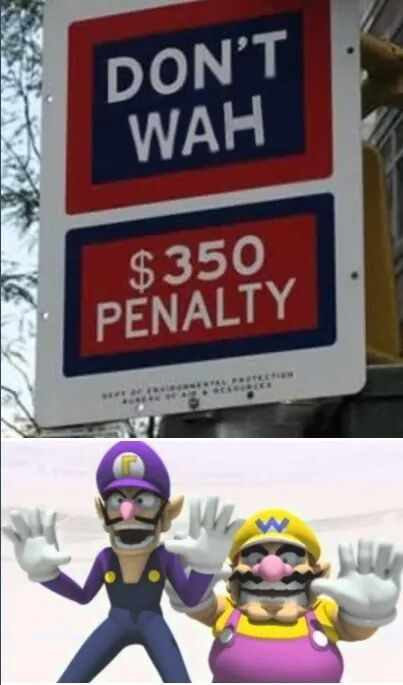 wario sign waluigi funny penalty - 8803059712