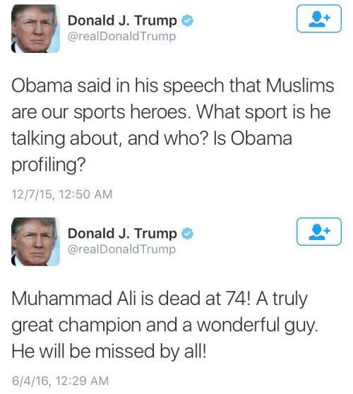 twitter FAIL donald trump Muhammad Ali - 8803338496