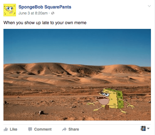 spongebob squarepants memes facebook Spongebob's Facebook Page Is Finally Ready