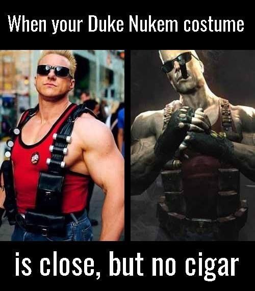 cosplay,Duke Nukem,puns,image