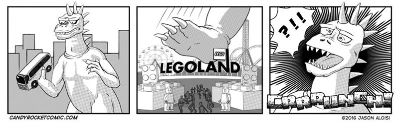pain godzilla legos legoland funny - 8803519744
