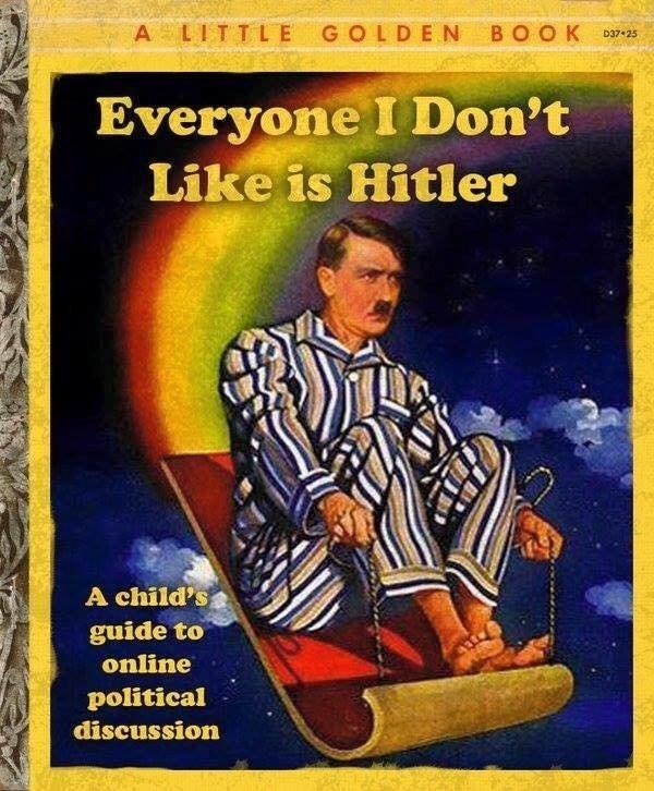 image trolling book Literally Hitler