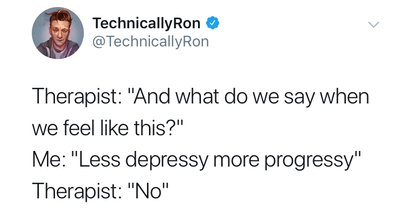 "Funny twitter meme ""and what do we say when we feel like this"" 