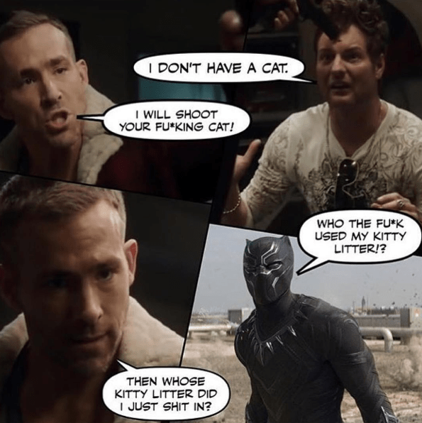 funny-wade-wilson-deadpool-kitty-litter-scene-black-panther-crossover