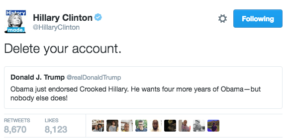 twitter,donald trump,Hillary Clinton,election 2016