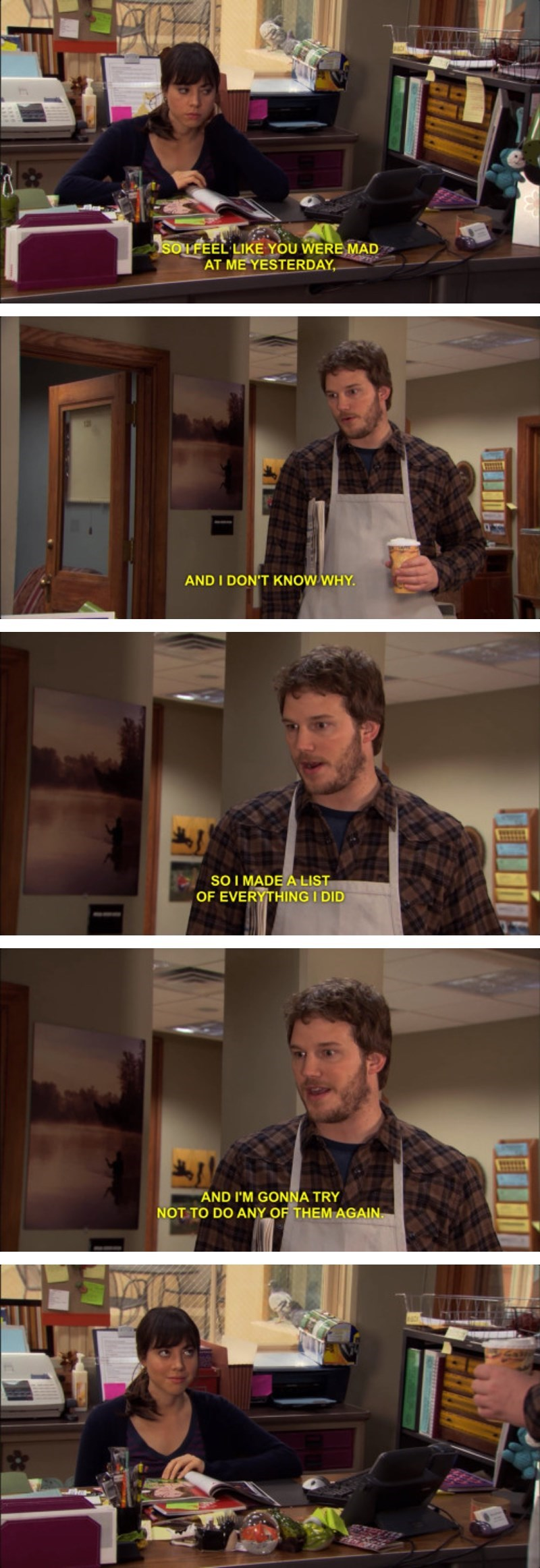 parks and recreation,anger,dating