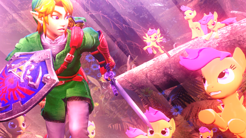 link,legend of zelda,Scootaloo,sfm