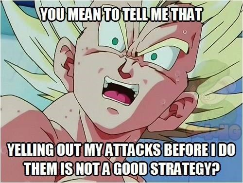 attacks,vegeta,funny,dragonball z logic