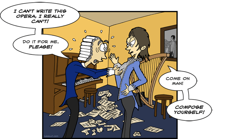 Music composing funny web comics - 8804386304