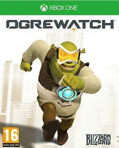 overwatch,crossover,video games,shrek,funny,xbox one