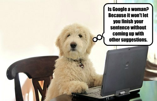 dogs,sentence,suggestions,woman,finish,caption,google
