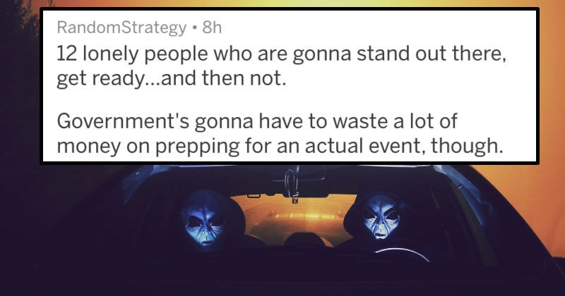 predicting only 12 people will show up to storm area 51