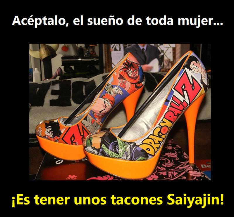 tacones saiyajin