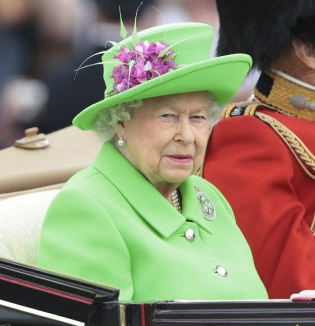 queen elizabeth photoshopped - Green