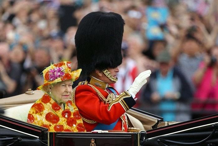 queen elizabeth photoshopped - Musical instrument