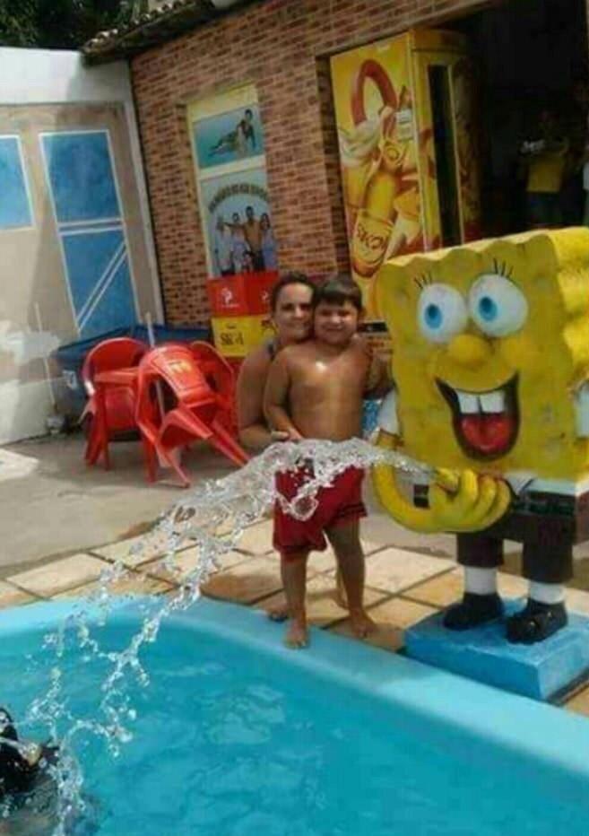 funny fail image classic spongebob pool