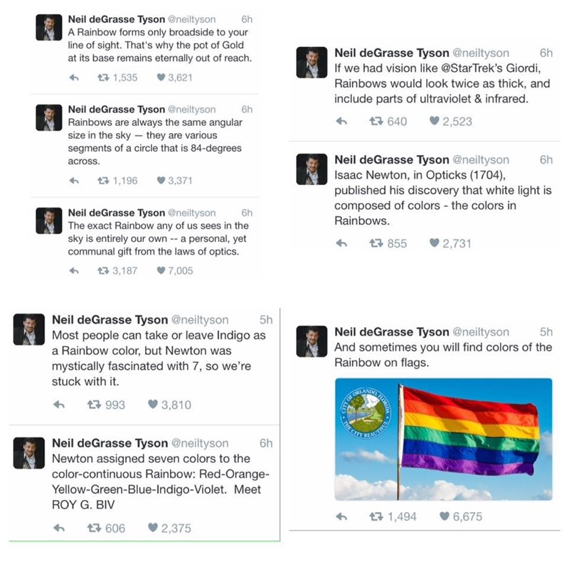 image twitter neil degrasse tyson Neil deGrasse Tyson Tweeted Some Beautiful Rainbow Facts in Support of the LGBTQ Community