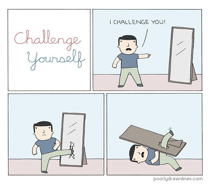 web-comics-poorly-drawn-lines-mirror-showdown-against-self