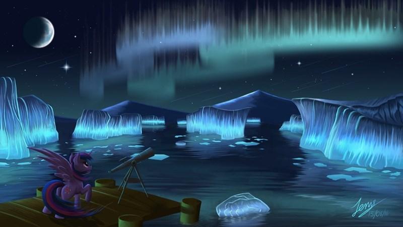 aurora borealis twilight sparkle - 8805426432
