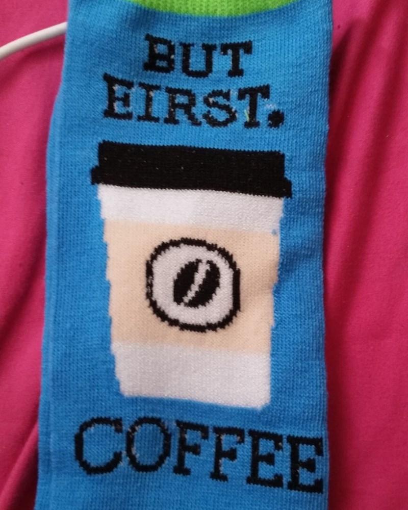 funny fail image coffee socks spelling FAIL