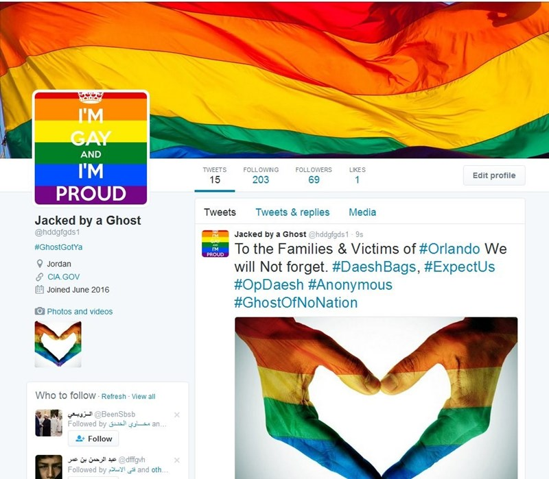 image hacked irl twitter Hacker Trolls ISIS Supporters by Making Their Twitter Accounts as Gay as Possible