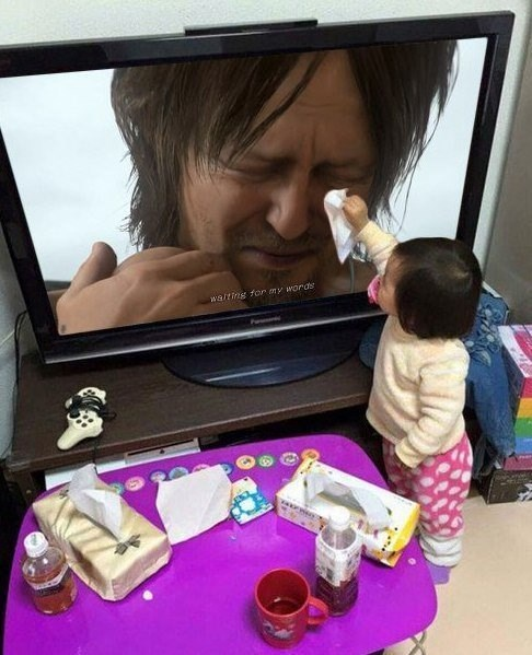 hideo-kojima-video-games-cute-japanese-baby-wiping-tears