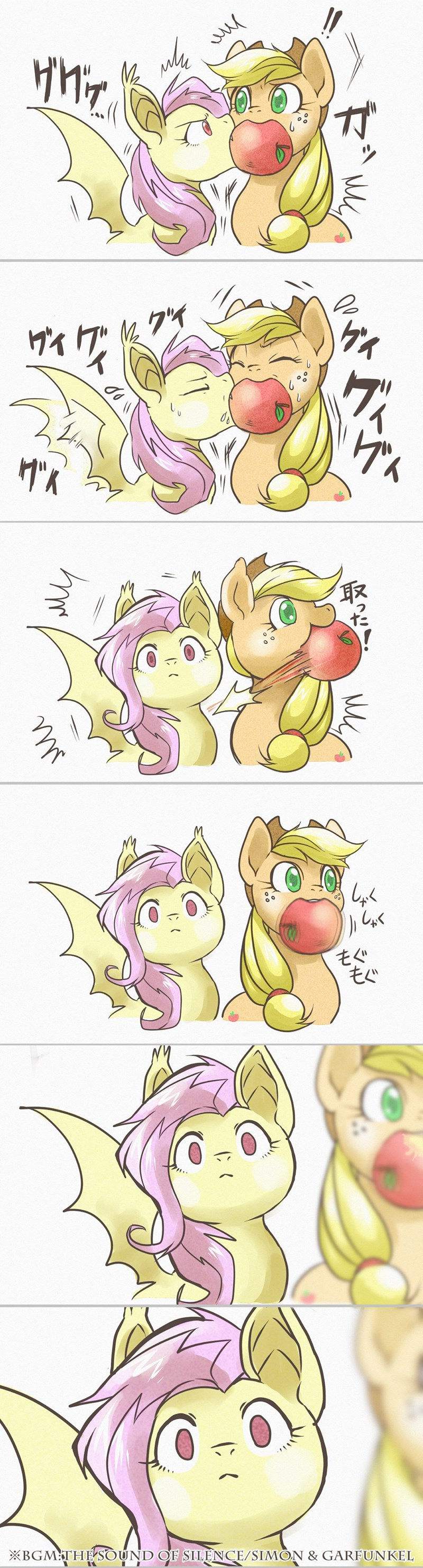 flutterbat applejack ponify comic fluttershy - 8805726720