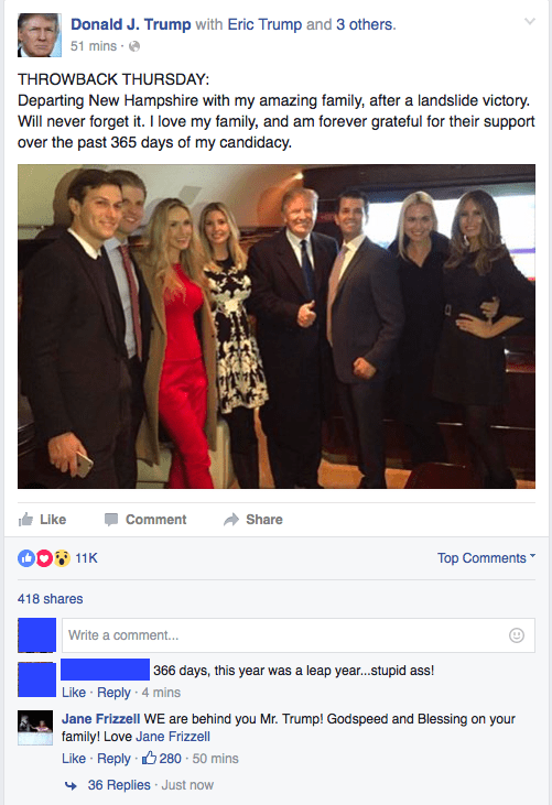 donald trump leap year facebook election 2016 - 8805747456