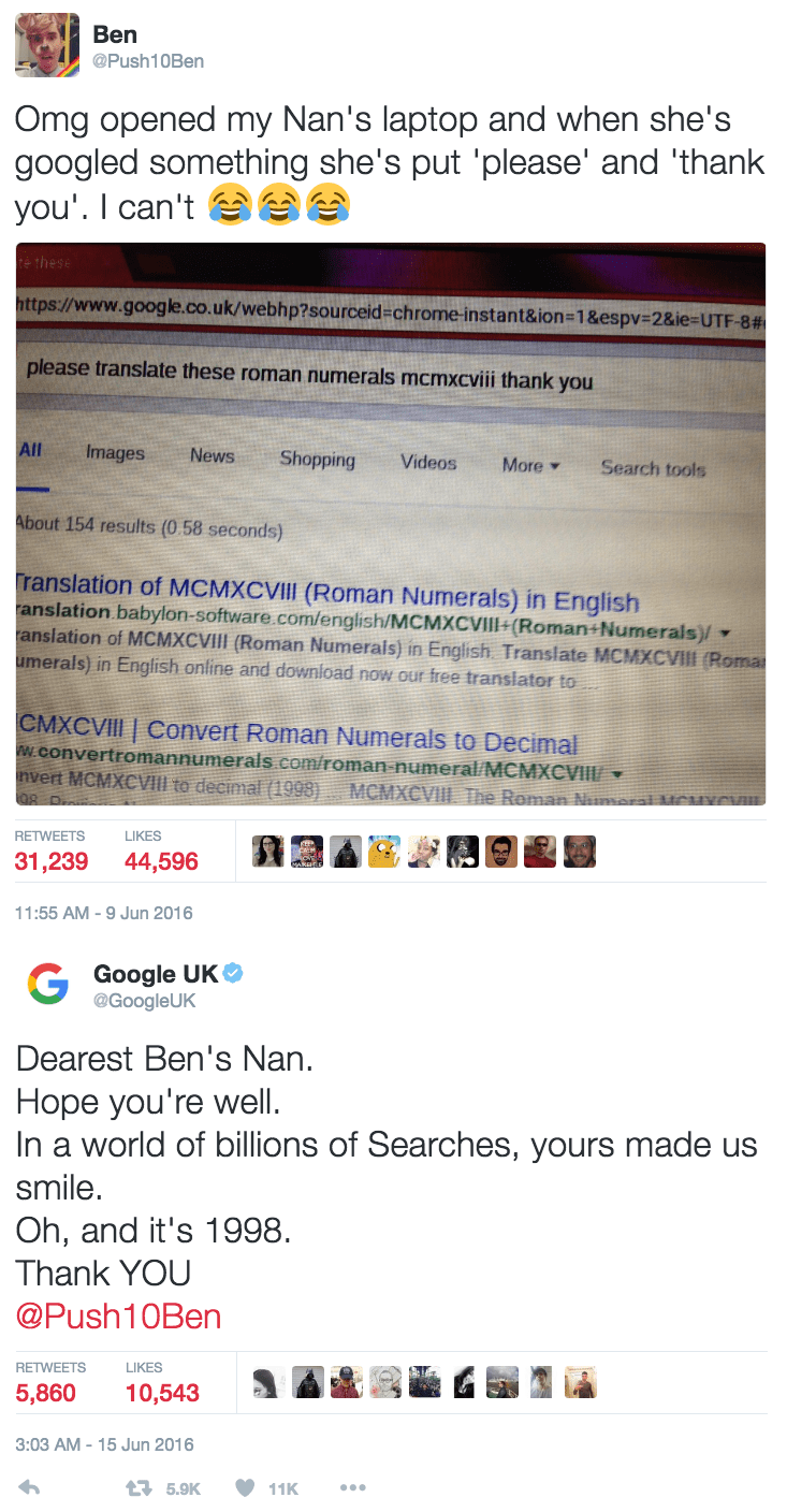 win grandma makes the most polite google search ever