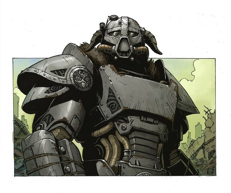 Somebody out There Please Make This Dragonborn Power Armor a Skyrim / Fallout 4 Mod