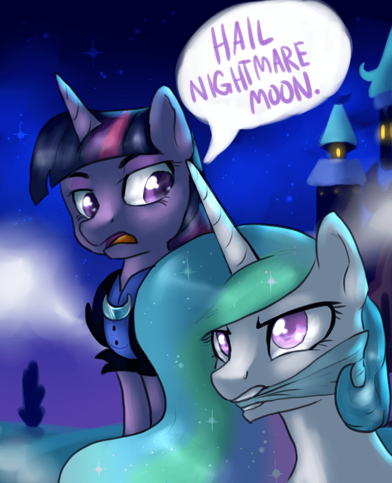 nightmare moon hail hydra twilight sparkle captain america princess celestia - 8806022400