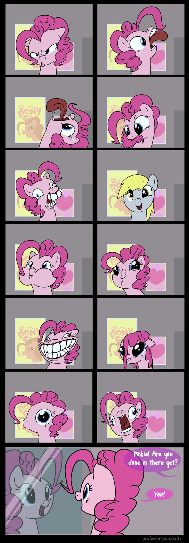face,derpy hooves,pinkie pie,comic
