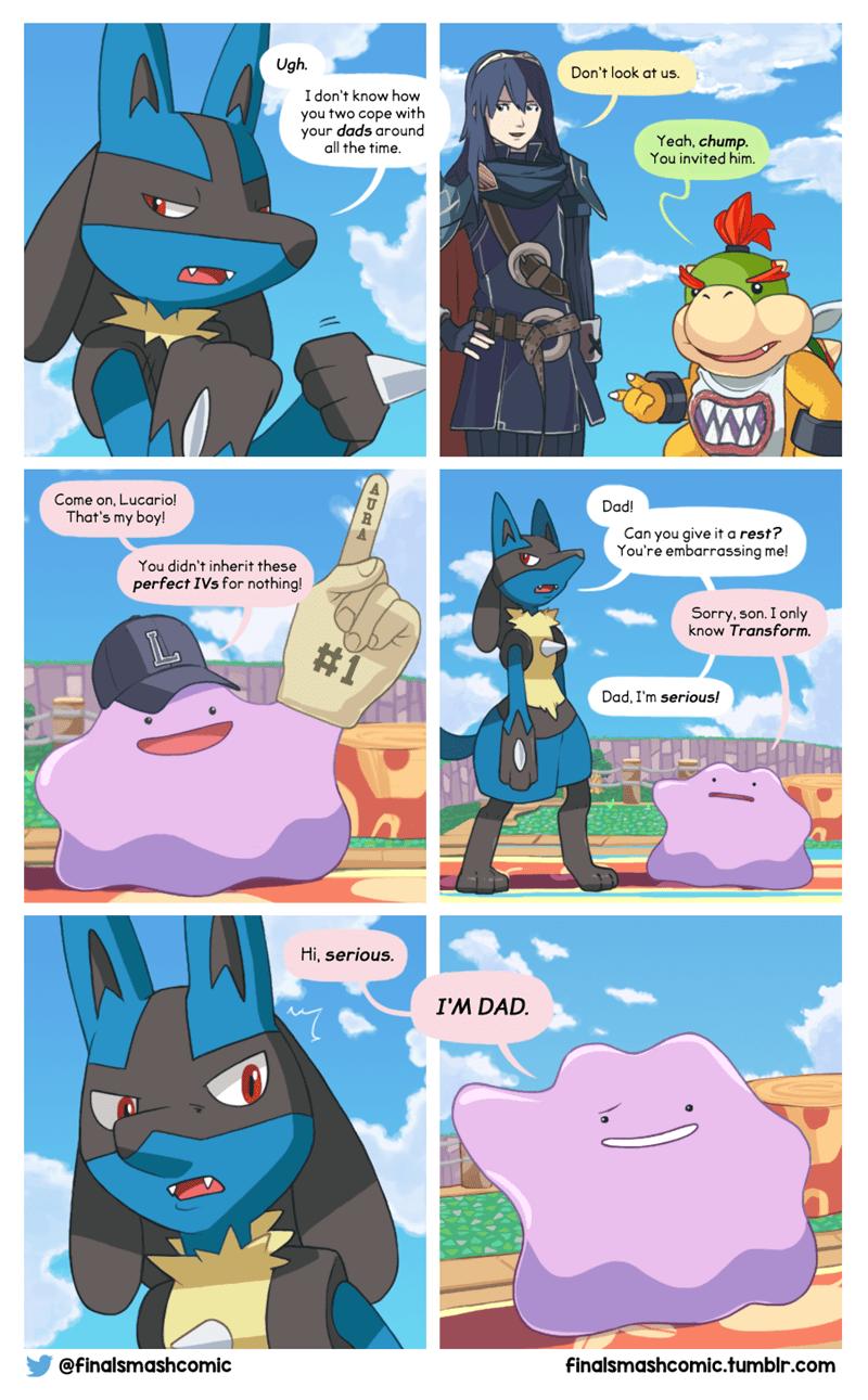 happy-fathers-day-web-comics-lucario-ditto-pokemon