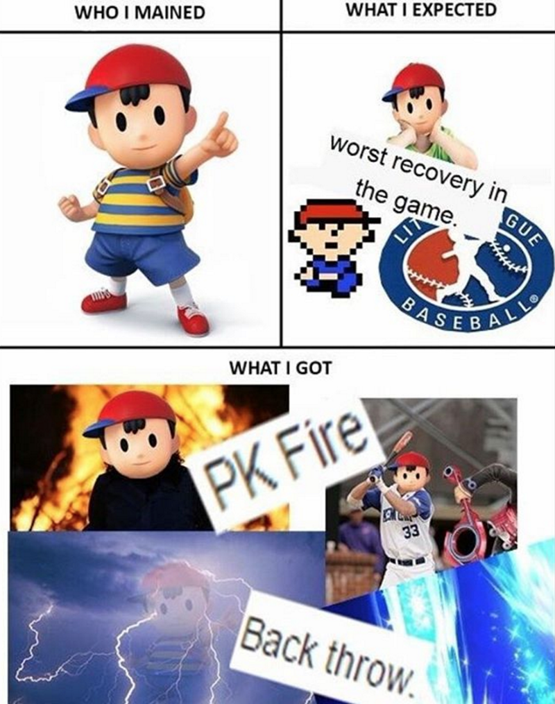 nintedo-super-mario-bros-ness-pk-fire-expectation-vs-reality