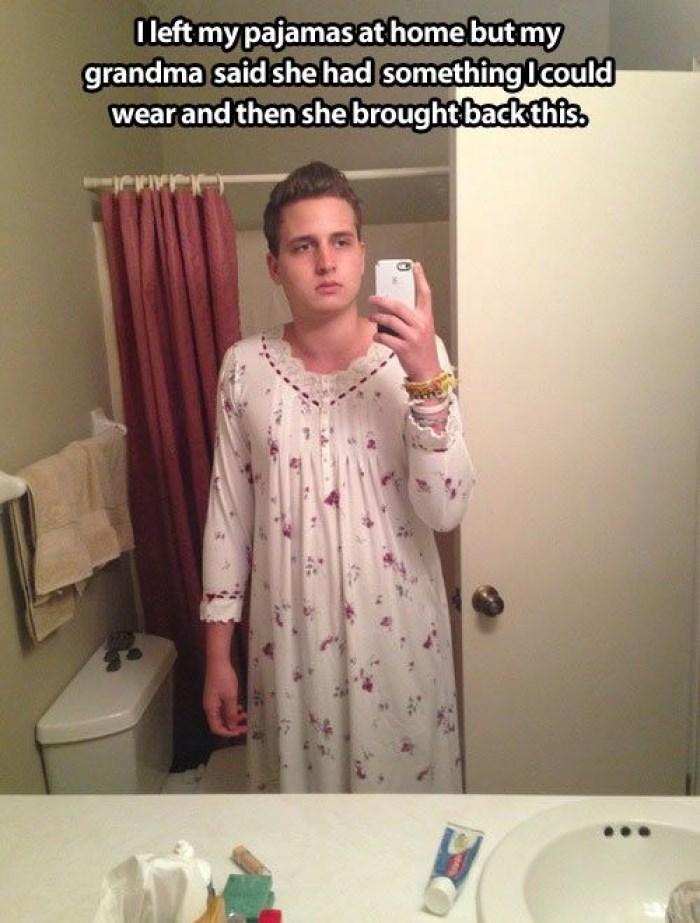 grandma,pajamas