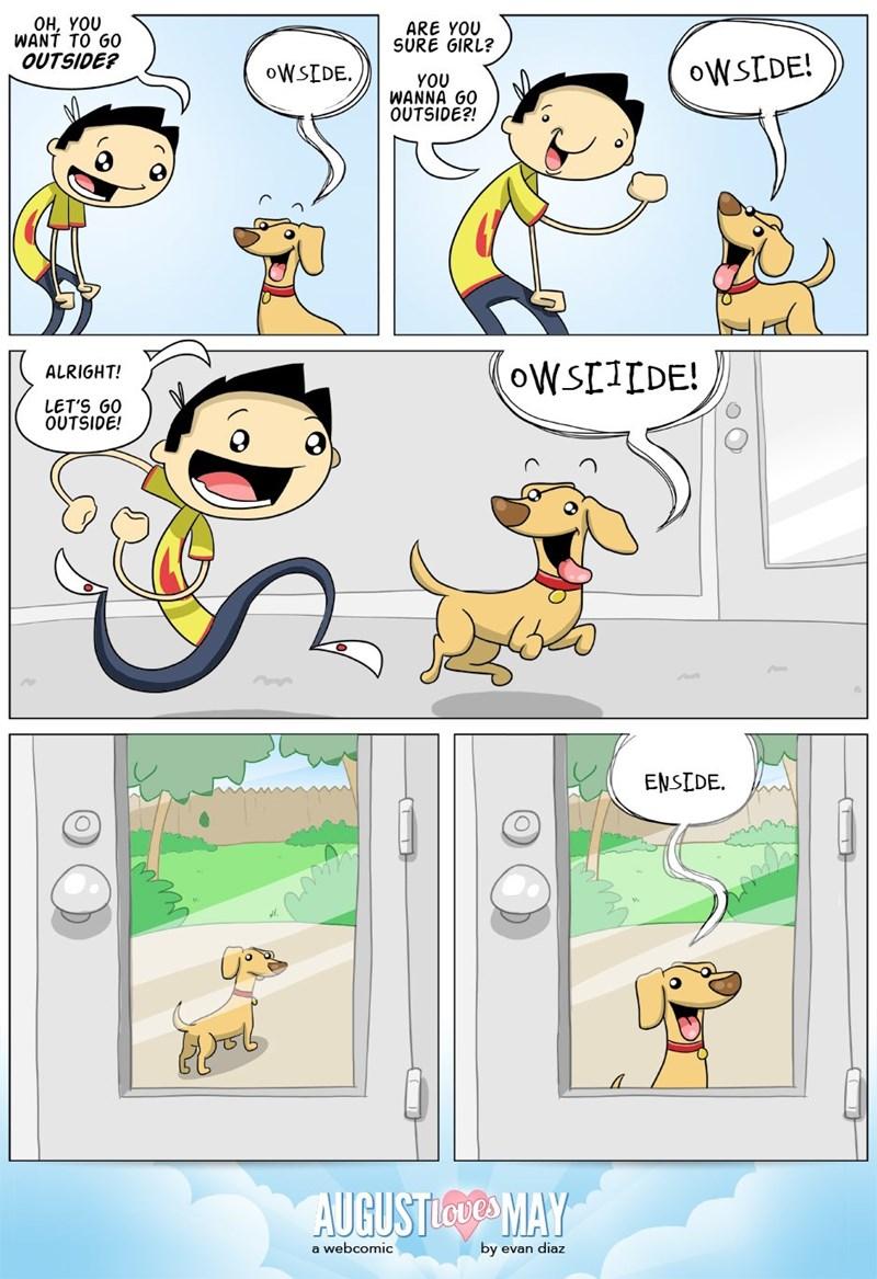 dogs inside funny outside web comic - 8806860288