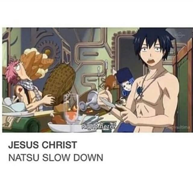 anime natsu eating funny - 8806963200